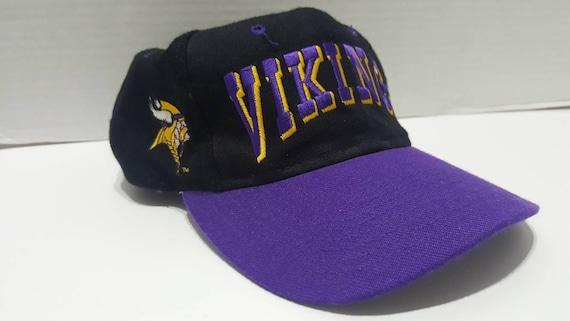 fc9d91bced18fb ... australia nfl minnesota vikings vintage black purple adjustable snapback  etsy 20246 6e2a4