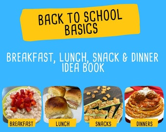 2021 Back To School Meal Plan - Back To School Planner - Printable - School Lunch - Back To School Planning Guide - Meal Planner