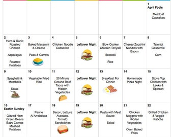 April 2017 Budget Menu Plan Weekly Grocery List Recipes Budget Menu Plan Monthly Menu Meal Plan Easter Menu
