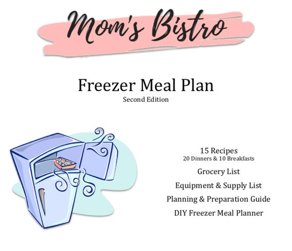 freezer meal plan detailed freezer meal planning guide with etsy