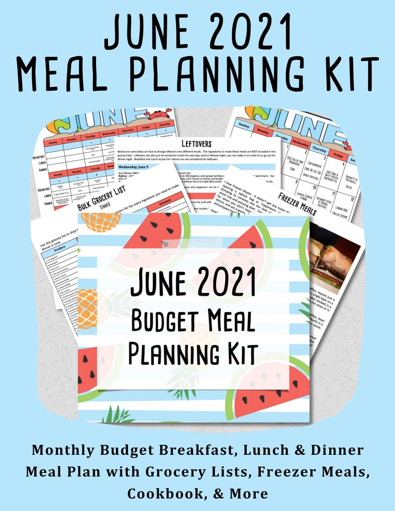 JUNE 2021 Budget Monthly Breakfast Lunch and Dinner Meal image 0