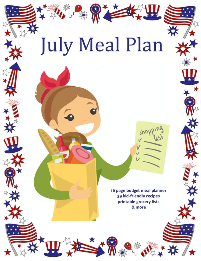 Monthly and Weekly Meal Plan with Grocery Lists and Recipes  image 0