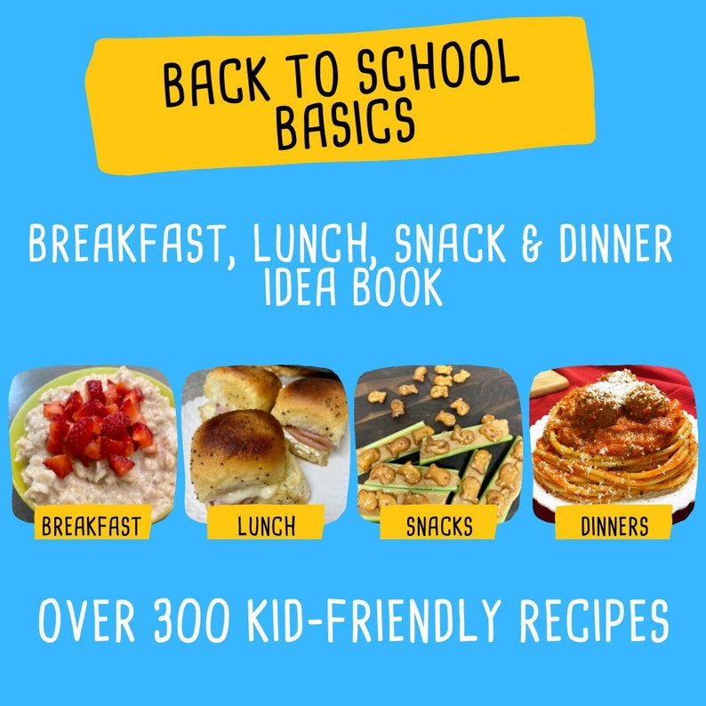 2021 Back To School Meal Plan  Back To School Planner  image 0