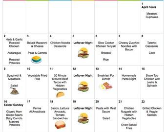 April 2017 Budget Menu Plan   Weekly Grocery List & Recipes   Budget Menu Plan   Monthly Menu   Meal Plan   Easter Menu