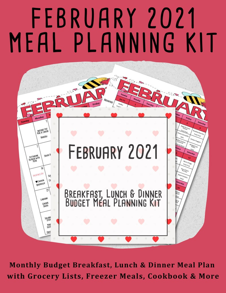 February 2021 Monthly Breakfast Lunch & Dinner Budget Meal image 0