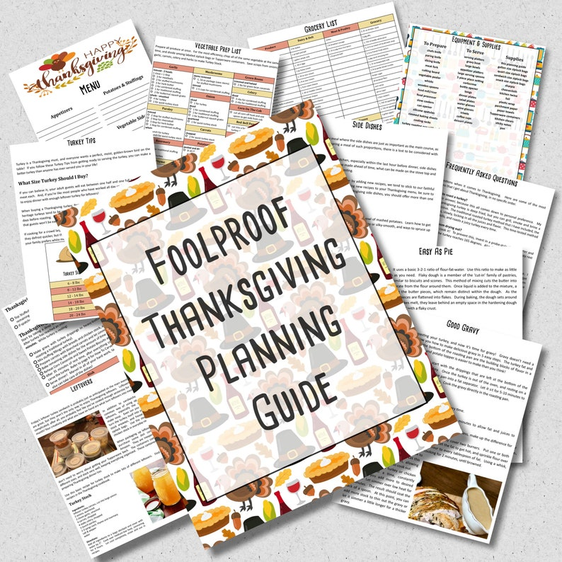 Thanksgiving Planner & Cookbook  60 Page Thanksgiving image 0