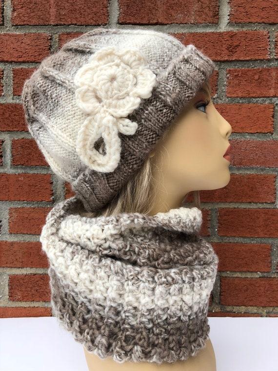 b5ca3bbf00c9 ensemble bonnet et écharpe pour femme tricot crochet   Etsy