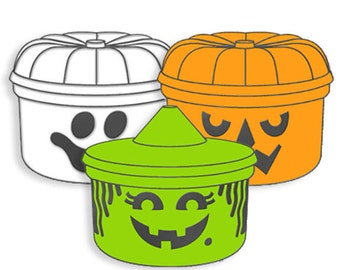 Halloween Lunchbox Enamel Pins (set Of 3)
