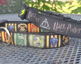 Harry Potter inspired dog collar-several sizes!