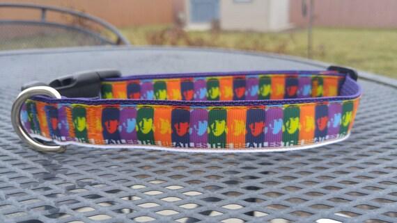 Classic Beatles Inspired Dog Collar Etsy