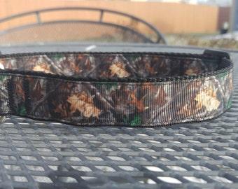 Camo hunting dog collar