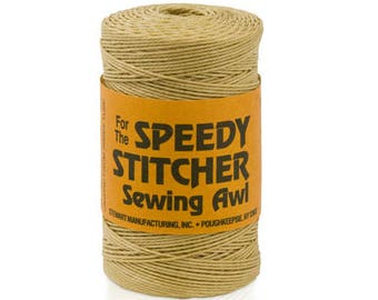 Speedy Stitcher Sewing Awl 180 Yards Fine Waxed Polyester Thread #170 - Suited for indoor and outdoor applications