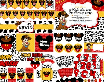 Mickey Cowboy Party | Cowboy Mickey Party | Mickey Mouse Cowboy Birthday | Cowboy Mickey Mouse Party | Mickey Western Party | Rodeo Mickey