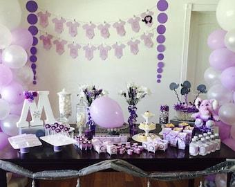 Baby shower purple Etsy