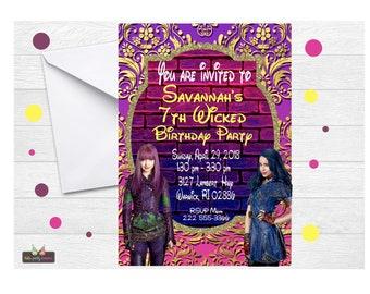 descendants invitation descendants 2 invitation disney descendants invitation descendants invite descendants mal invitation - Descendents Christmas Sweater