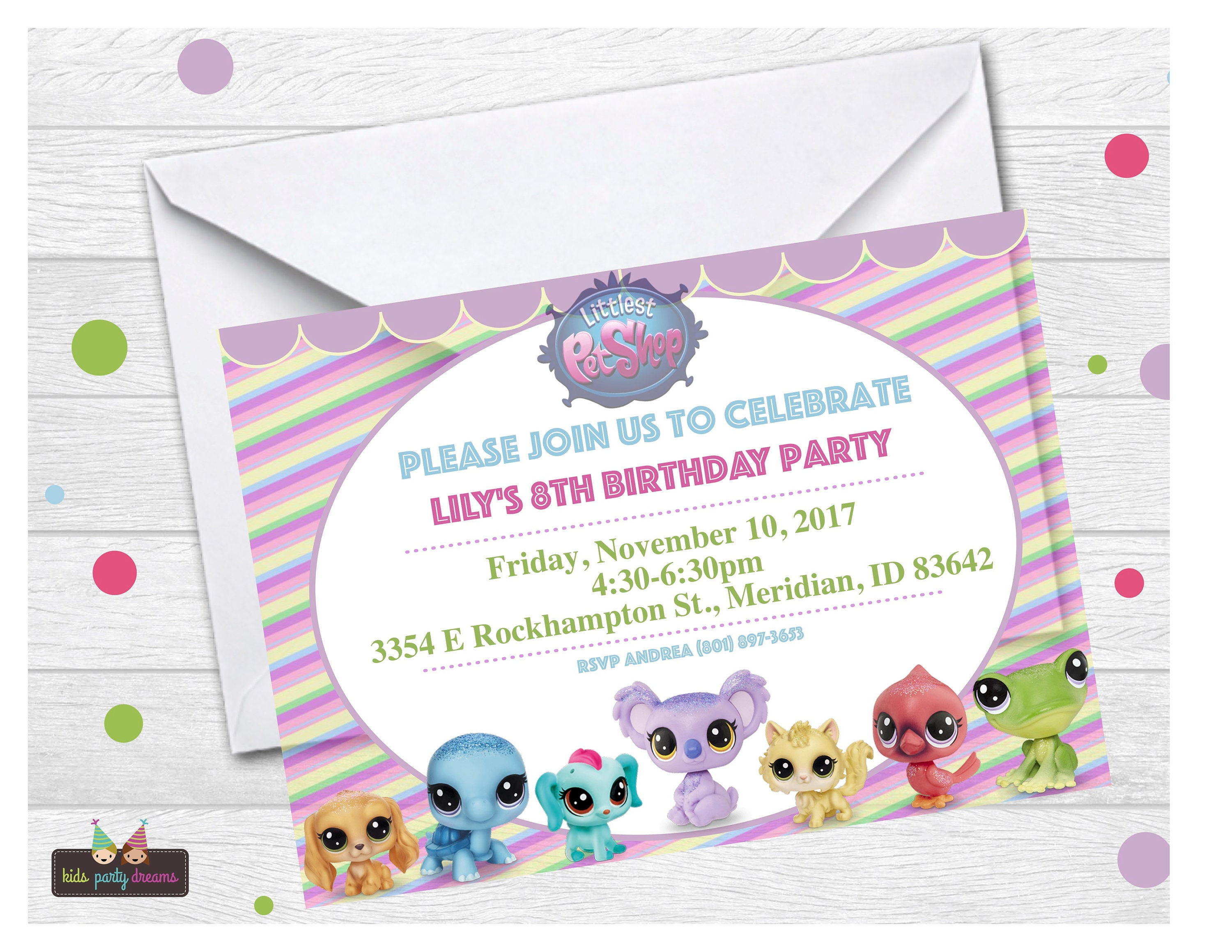 Littlest Pet Shop Invitation LPS Invitation Littlest Pet | Etsy