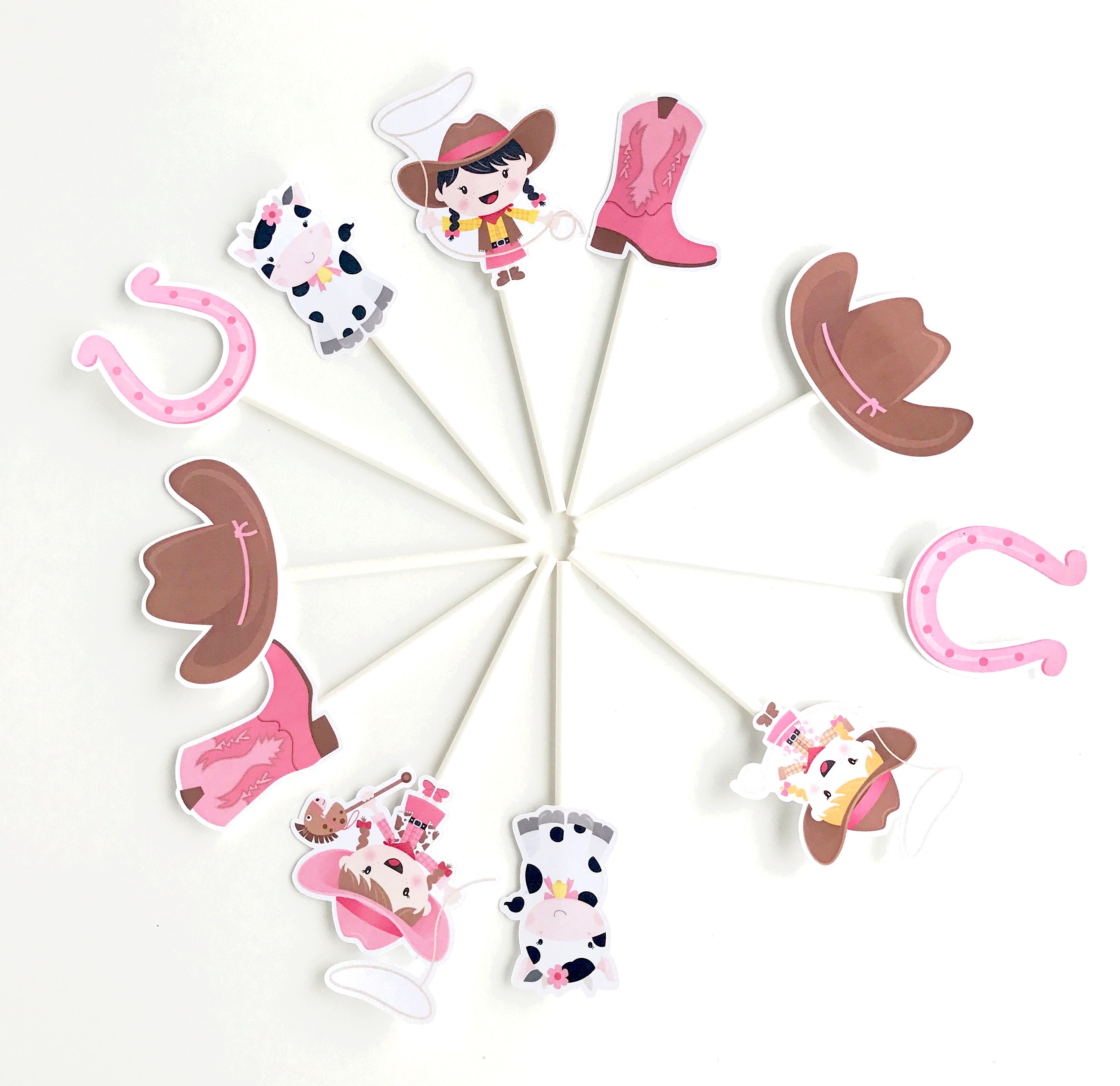 Awe Inspiring Cowgirl Cupcake Toppers Cowgirl Cake Topper Cowgirl Baby Personalised Birthday Cards Sponlily Jamesorg