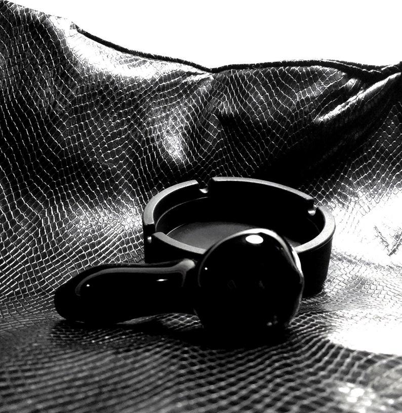 Black Pipe /& Silicone Ashtray SetGlass PipesSilicone AshtrayObsidian PipeGlass Pipe SetSmoking AccessoriesSmoking PipesGlass Bowls