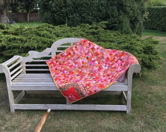Shades of Red Mosaic Quilt