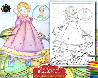 The Faeries Of Waterlily Woods Adult Colouring Book Etsy