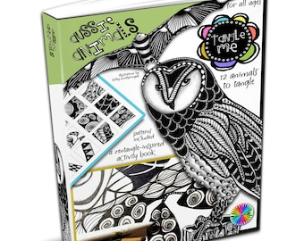 Tangle Me - Aussie Animals - Zentangle-inspired Printable Activity E- Book - Zentangle Art