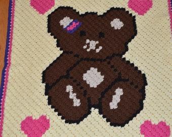C2c Bear Blanket Etsy