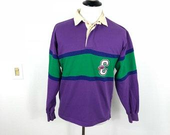 4c4ae8b3d71 80's vintage coca cola color block rugby shirt