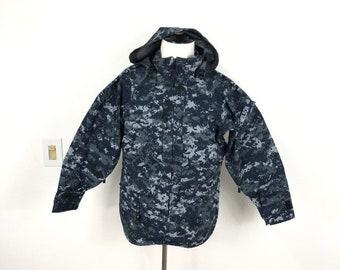 cb4d942e53a26 military US NAVY gore tex digital camouflage rain jacket coat mountain parka  size S