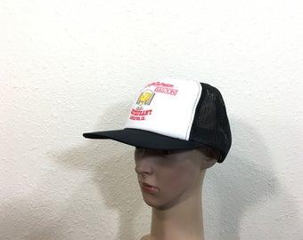 497b73db 90's schooner restaurant mesh snapback cap black color