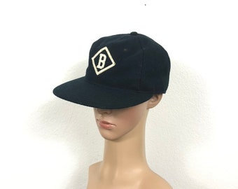 15202af578aec ebbets field 100% wool flannel baseball cap made in usa size 7 1 4 actual  size 7 1 8