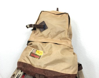 072beeeb33b 70s vtg bottom leather backpack day pack school bag