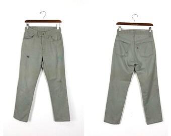 4ebbc4fba66 60s vtg distressed levis big e sta prest cotton trousers size w28