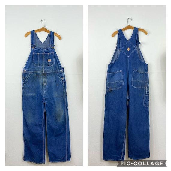 50s vintage PAY DAY indigo denim overall work wear