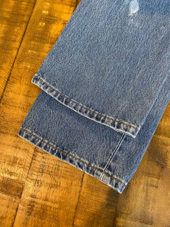 90s vintage distressed levi's 501  jeans denim pa… - image 4