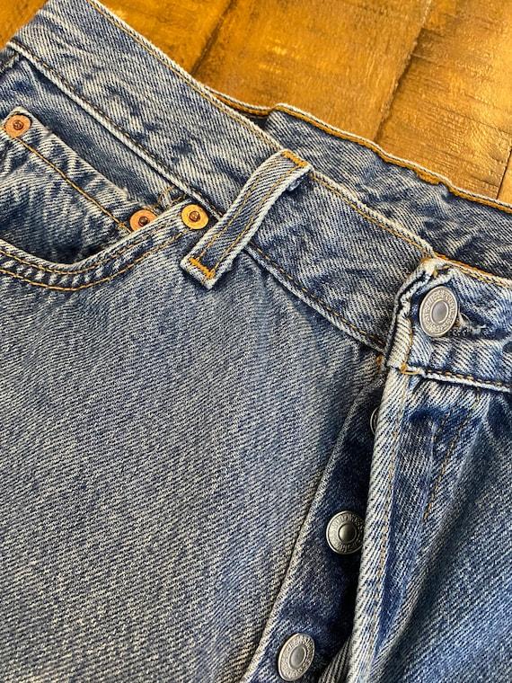 90s vintage distressed levi's 501  jeans denim pa… - image 2