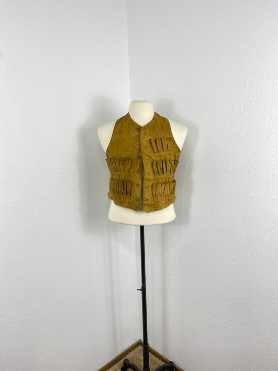 40's vintage cotton canvas hunting vest