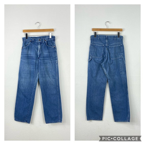 60s 70s vintage work denim pants jeans work wear s