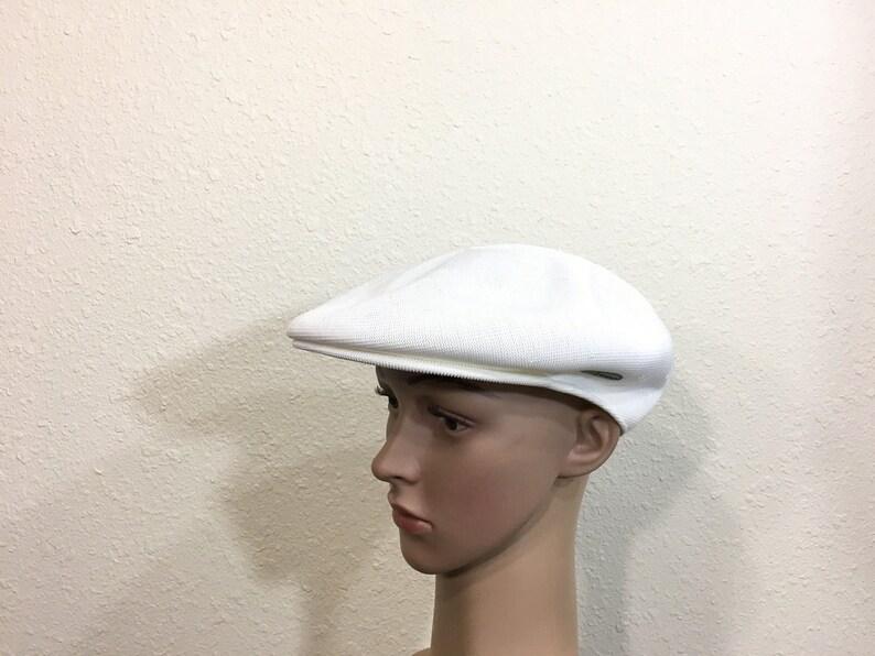 ed9105000a85 vintage kangol newsboy cap summer hat made in england mesh cap size 7 1/4