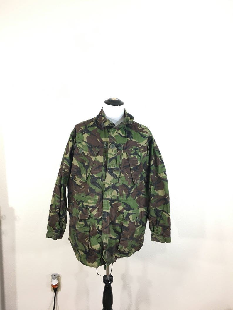 euro vintage british army camouflage field smock jacket