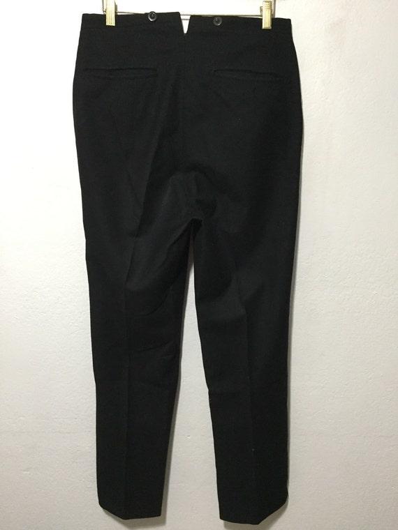 40's euro vintage wool trouser pants black mens - image 2
