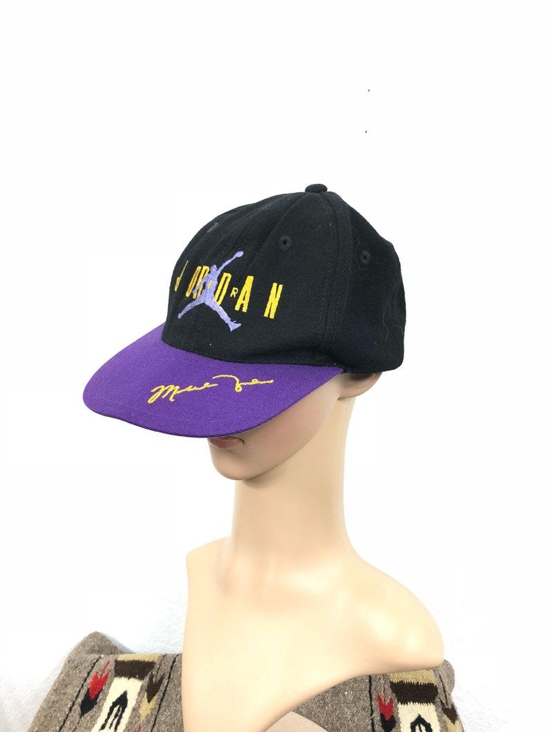 1f4bcf438dd 90 s vintage wool nike air jordan snapback cap hat one