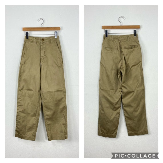 40s vintage military U.S.Army M-43 khaki chino pan