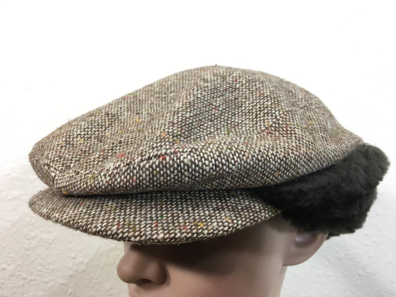 3bd9e5aefcb 80 s wool newsboy hat made in usa size 7