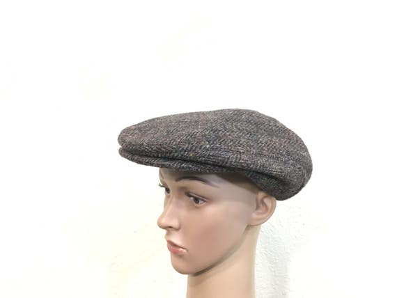 26cfdb0267b vintage 100% wool newsboy cap hat made in usa size 7 1 4
