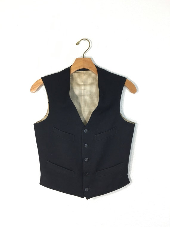 1930's / 40's vintage wool formal vest button up