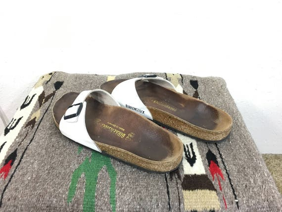 birkenstock white leather strap sandal made in germany size 40