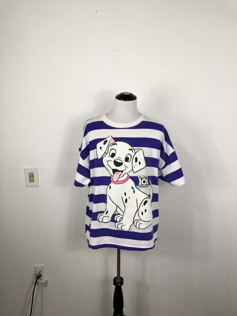 c3a7a109b8 90 s disney 101 dalmetians striped t-shirt mickey mouse