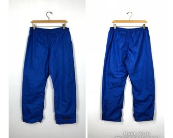 90s New Adidas Soccer Heritage Spell Out Nylon Lined Athletic Joggers Jogger Pants Mens Medium Blue, Vintage Adidas Joggers, Vintage Pants