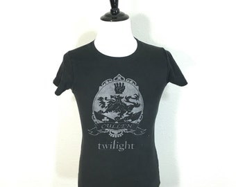80's euro vintage distressed twilight 100% cotton t-shirt