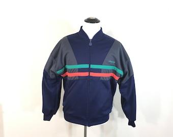 80's vintage adidas striped color block sport jacket game jacket